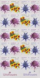 AUSTRALIA Reprint SG4489c Wildflowers 2015 Definitives self-adhesive booklet (SB523) pane of 20 - 1 Koala